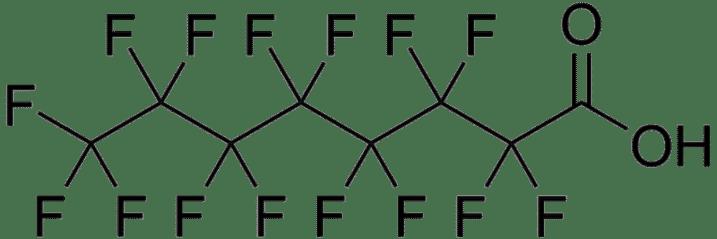 الصيغة المفصلة لحمض بيرفلورو الايتانوئيك