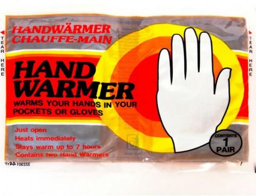 أكياس تدفئة اليدين غير القابلة لإعادة الاستخدام (disposable hand warmers)