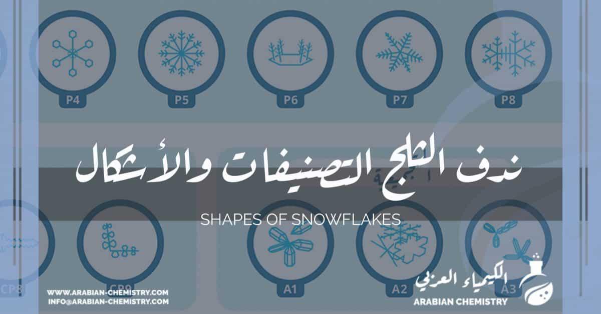 ندف الثلج التصنيفات والأشكال